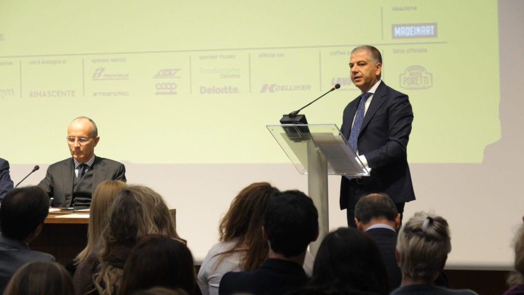 L'intervento di Cosmo Schinaia durante la presentazione