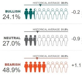 Le attese degli investitori individuali americani (Fonte: American Association of Individual Investors – settimana al 24 giugno)